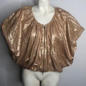 Gold Sequin Bolero Jacket